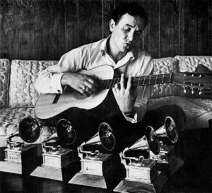 Roger Miller and his five Grammy Awards